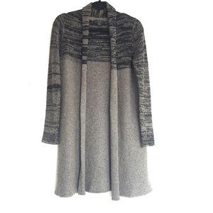 Tahari wool and yak long cardigan sweater
